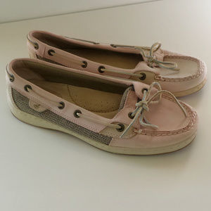Sperry Top-Sider Angelfish Pink Tan Boat Shoes - S